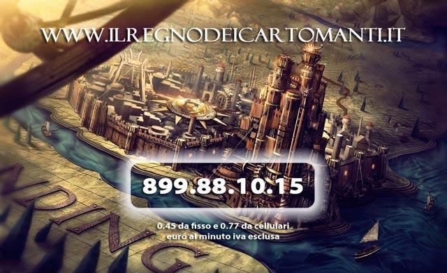 Cartomanzia professionale al telefono del Regno dei Cartomanti: consulto all' 899 88 10 15.